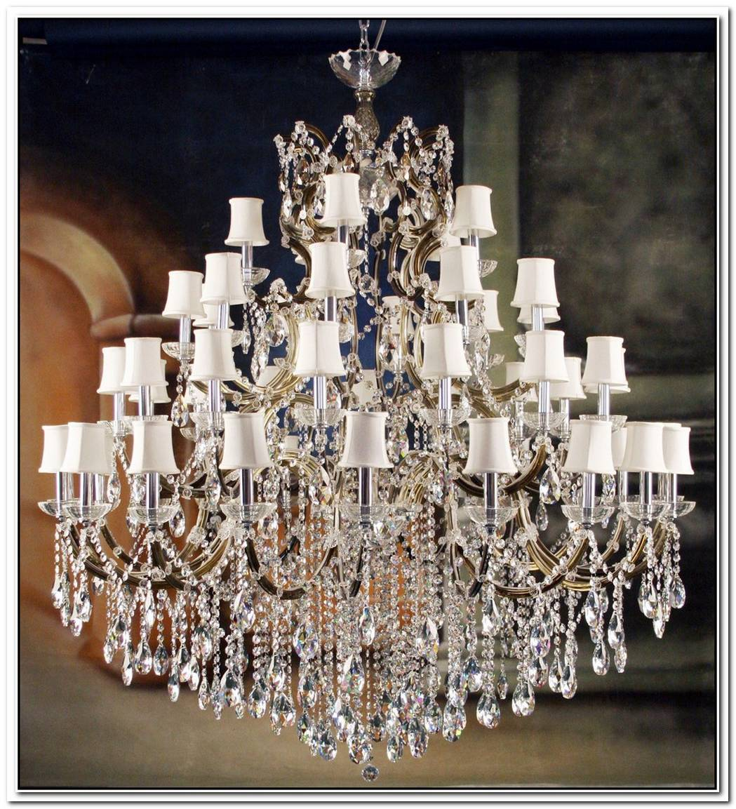 Elegant And Sumptuous Black Crystal Chandeliers