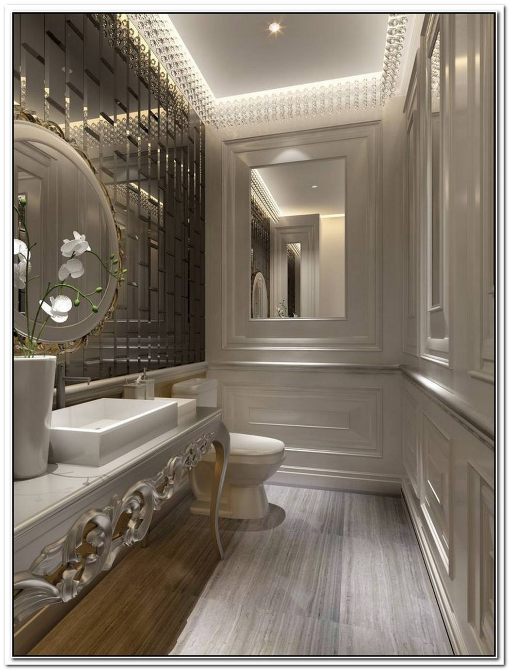 Elegant Bathroom Modern Glamorous