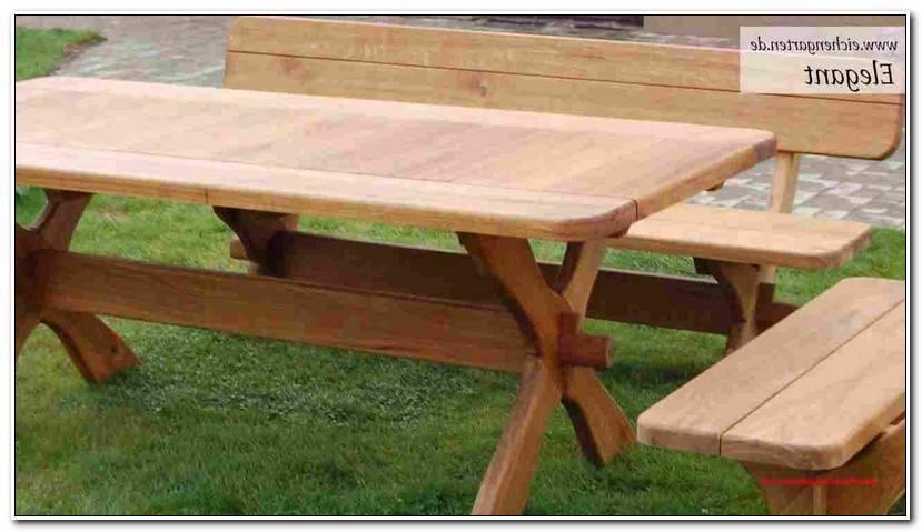 Elegant Gartentisch Massivholz