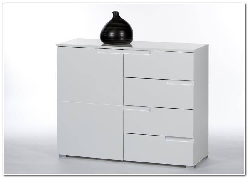 Elegant Kommode Hochglanz Weiß