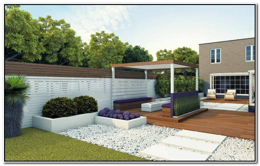 Elegante Decoracion De Jardines Modernos Imagen De Jardín Decoración