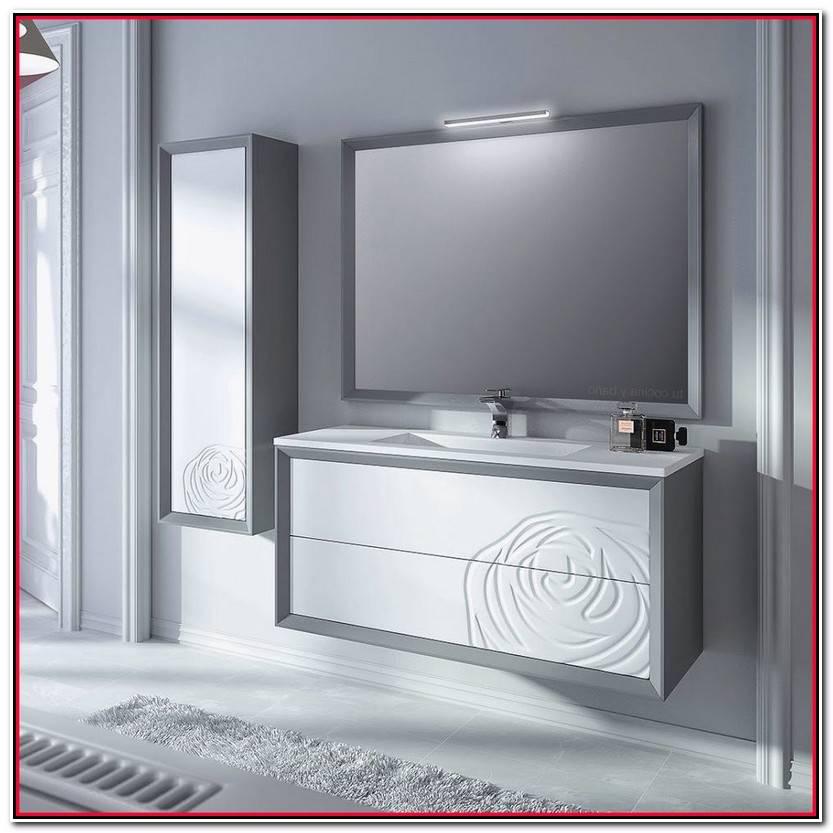 Elegante Mueble Baño Suspendido Fotos De Baños Decorativo