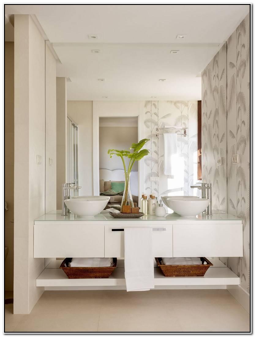 Elegante Muebles Baño Dos Lavabos Imagen De Baños Idea