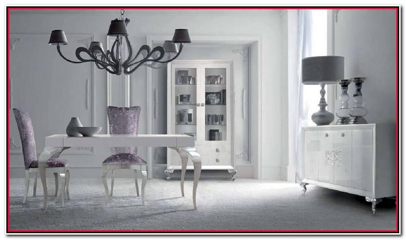Elegante Muebles Lacados En Blanco Brillo Imagen De Muebles Estilo