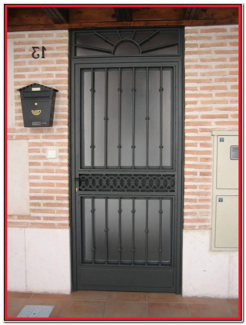 Elegante Puertas Hierro Exterior Colección De Puertas Accesorios