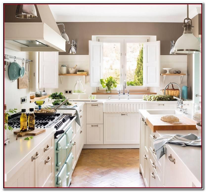 Encantador Cocinas Con Muebles Blancos Colección De Cocinas Decorativo