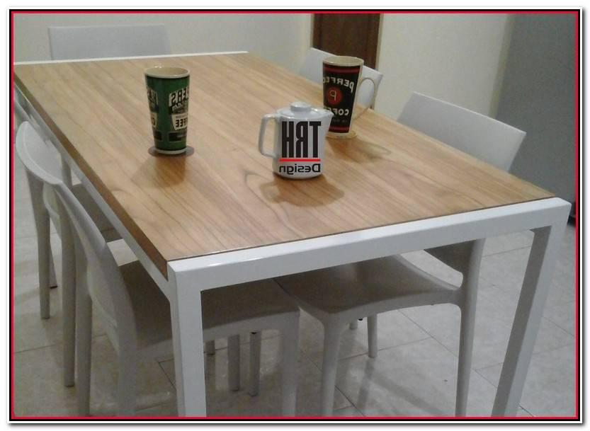 Encantador Mesa Comedor De Hierro Y Madera Fotos De Mesas Decoración