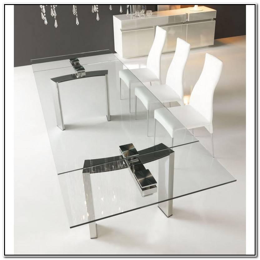 Encantador Mesas De Cristal Y Acero Imagen De Mesas Decoración