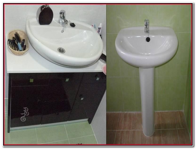 Encantador Muebles De Baño Adaptables A Lavabo Con Pie Colección De Baños Decoración