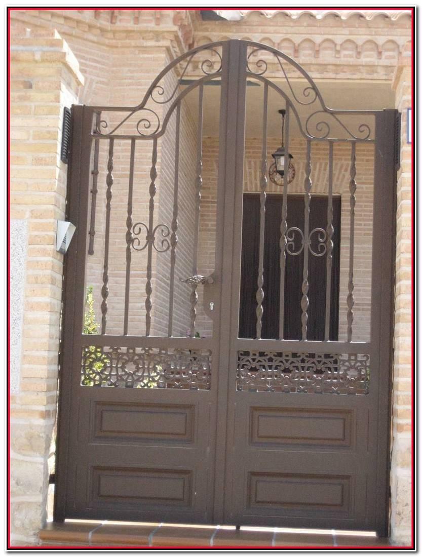 Encantador Puertas De Forja Exterior Galería De Puertas Decoración