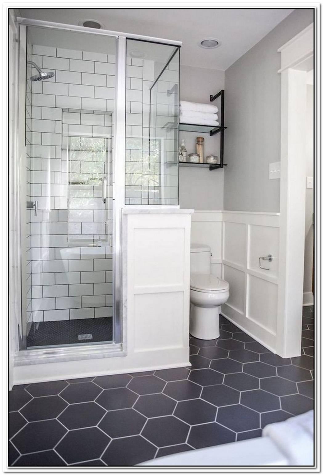 Enclosed Contemporary Bathroom Slate