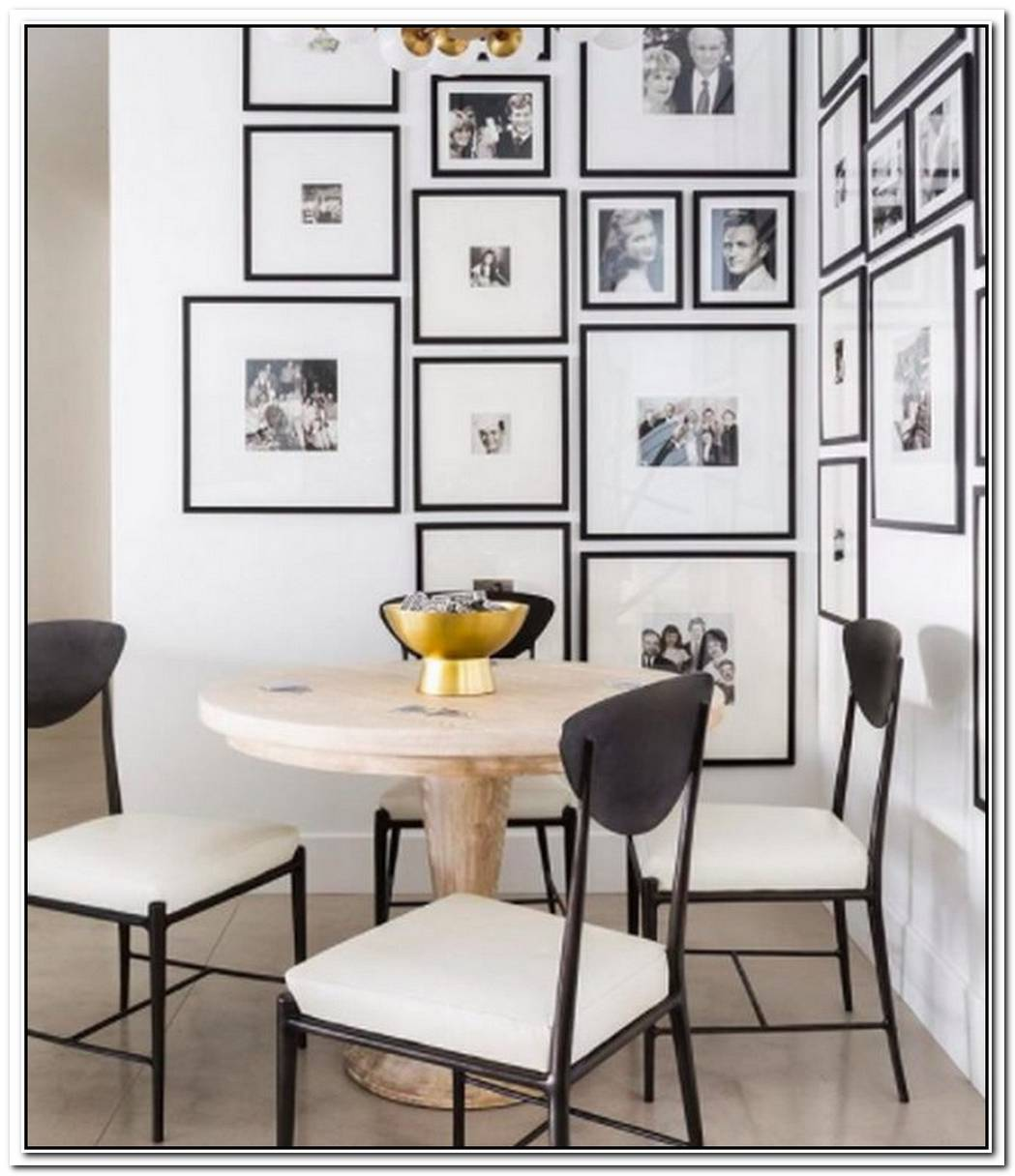Enhance An Empty Corner With A Chic Black And White Gallery Wall