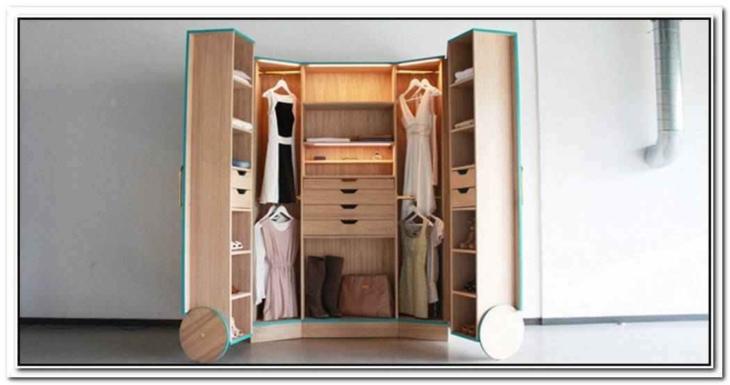 Ergonomic WalkIn Closet Opens Up Into A Stylish Mini Fitting Room