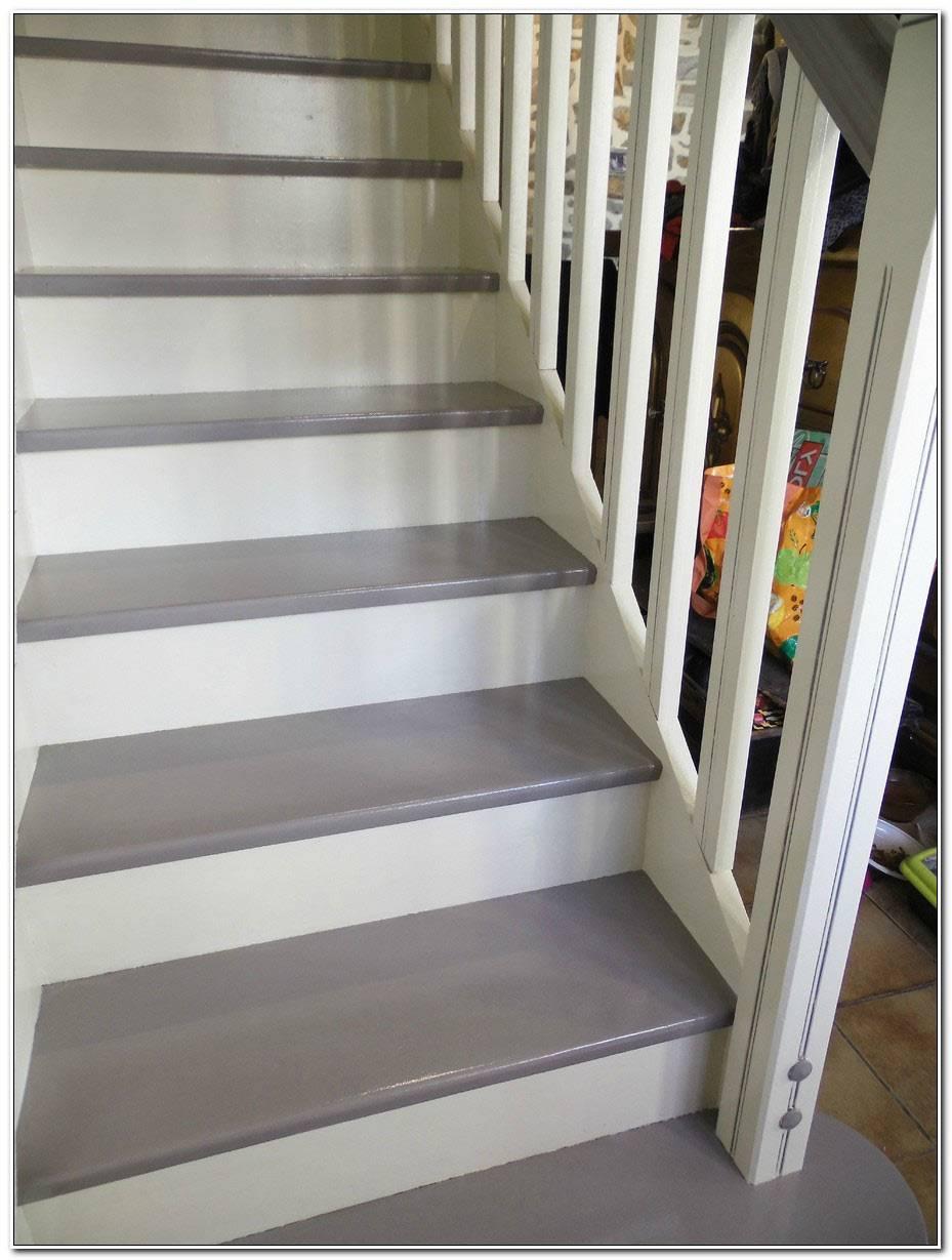 Escalier Bois Gris Et Blanc