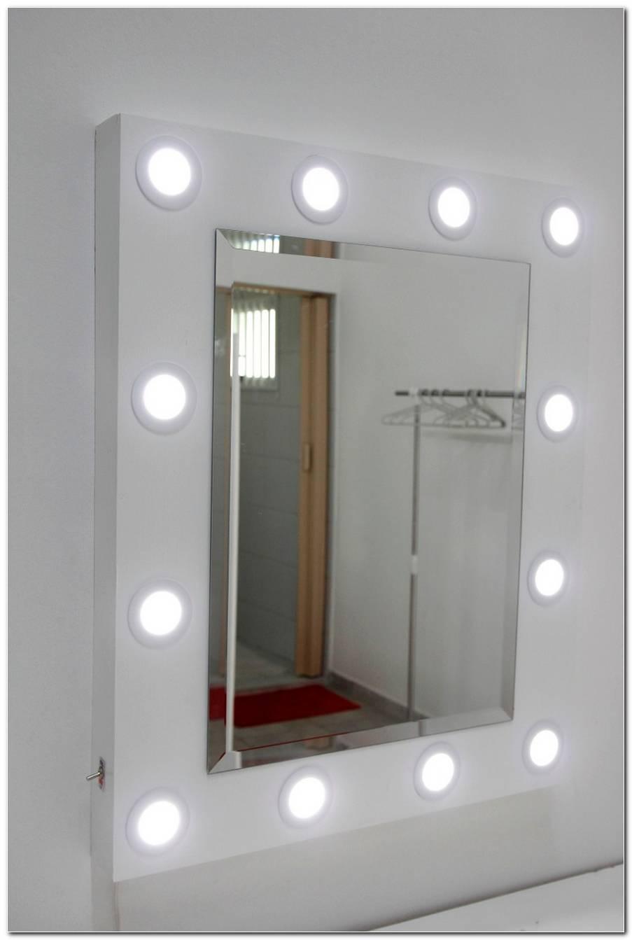 Espelho Com Luz Para Maquiagem Camarim