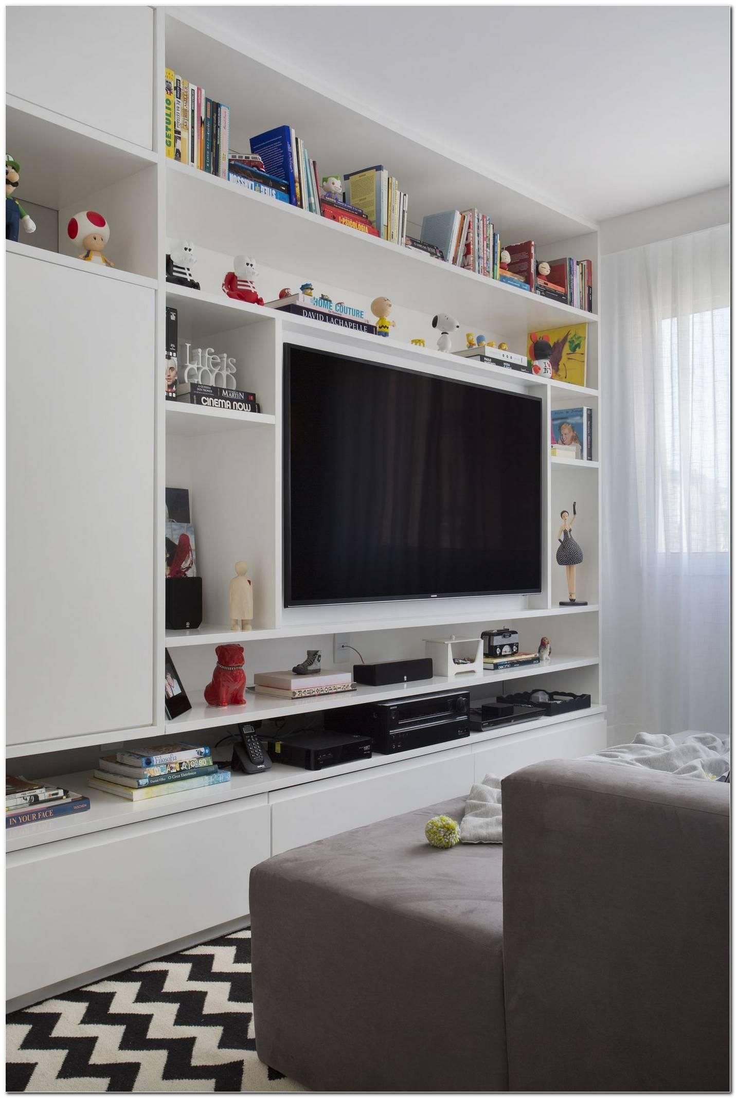 Estante Branca Para Sala De Tv