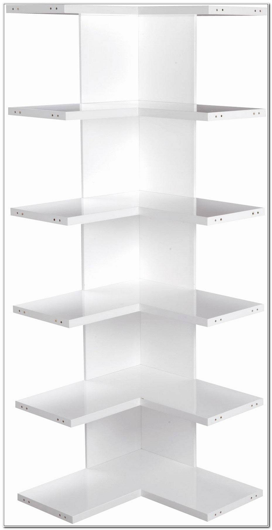 Etagere D Angle Blanc Laque