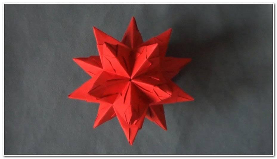 Etoile De Noel Origami Facile