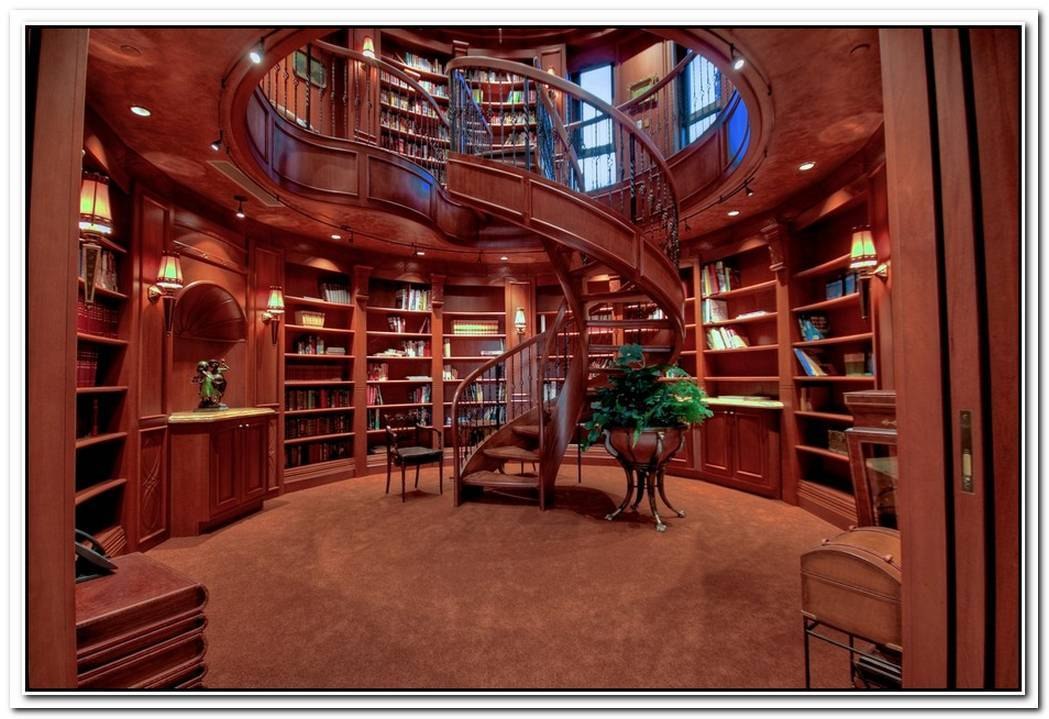 Expensive Luxurious Home Library