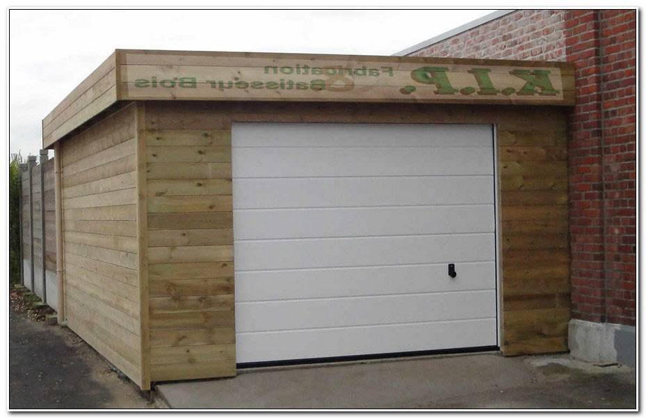Extension Garage Bois Toit Plat