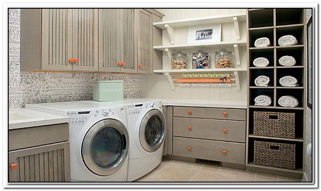 EyeCatching Laundry Room Shelving Ideas