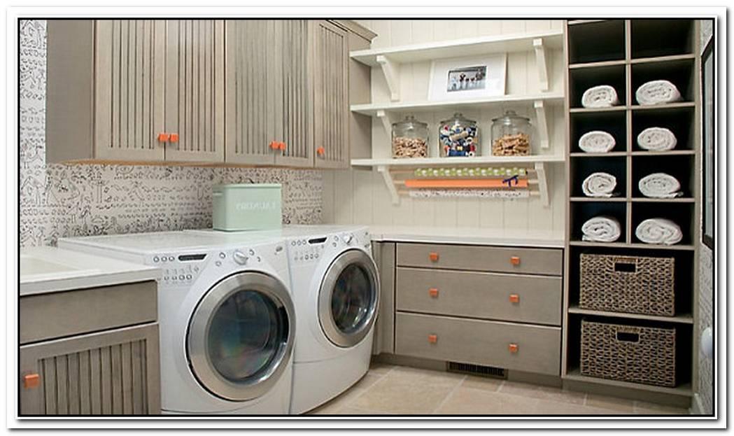 EyeCatching Laundry Room Shelving Ideas