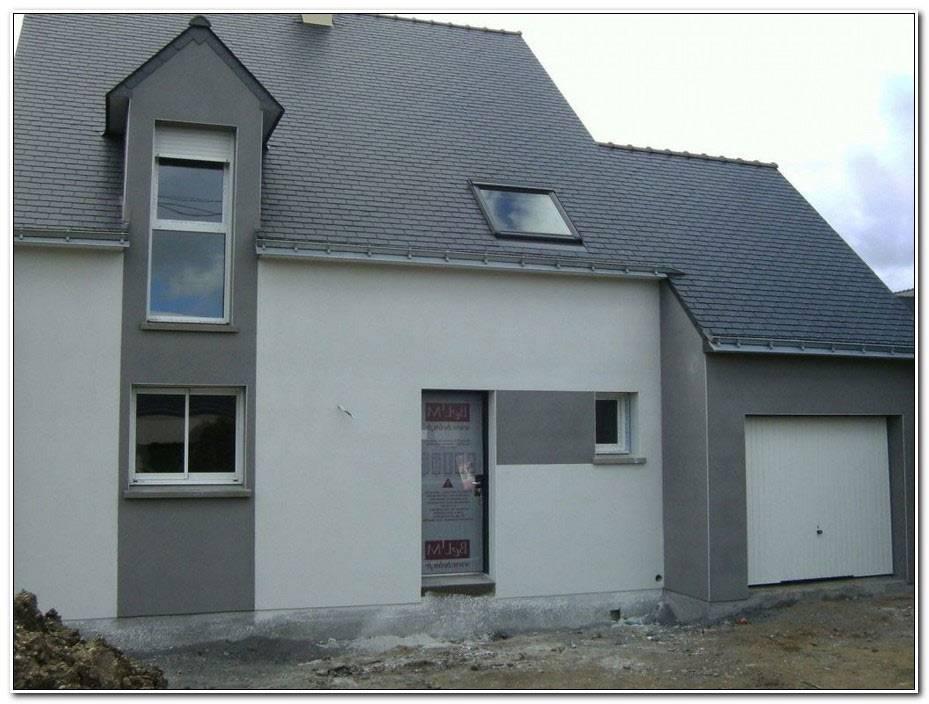 Facade Maison Gris Et Blanc