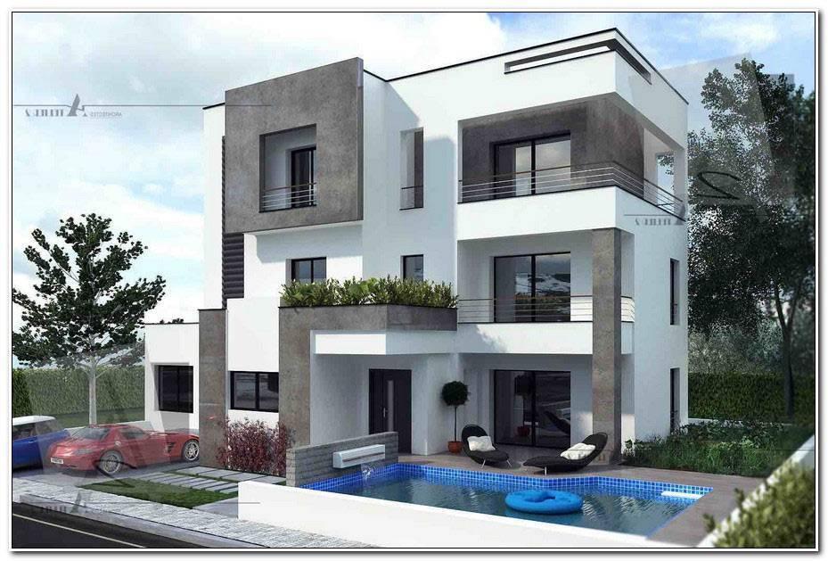 Facade Villa Moderne Tunisie
