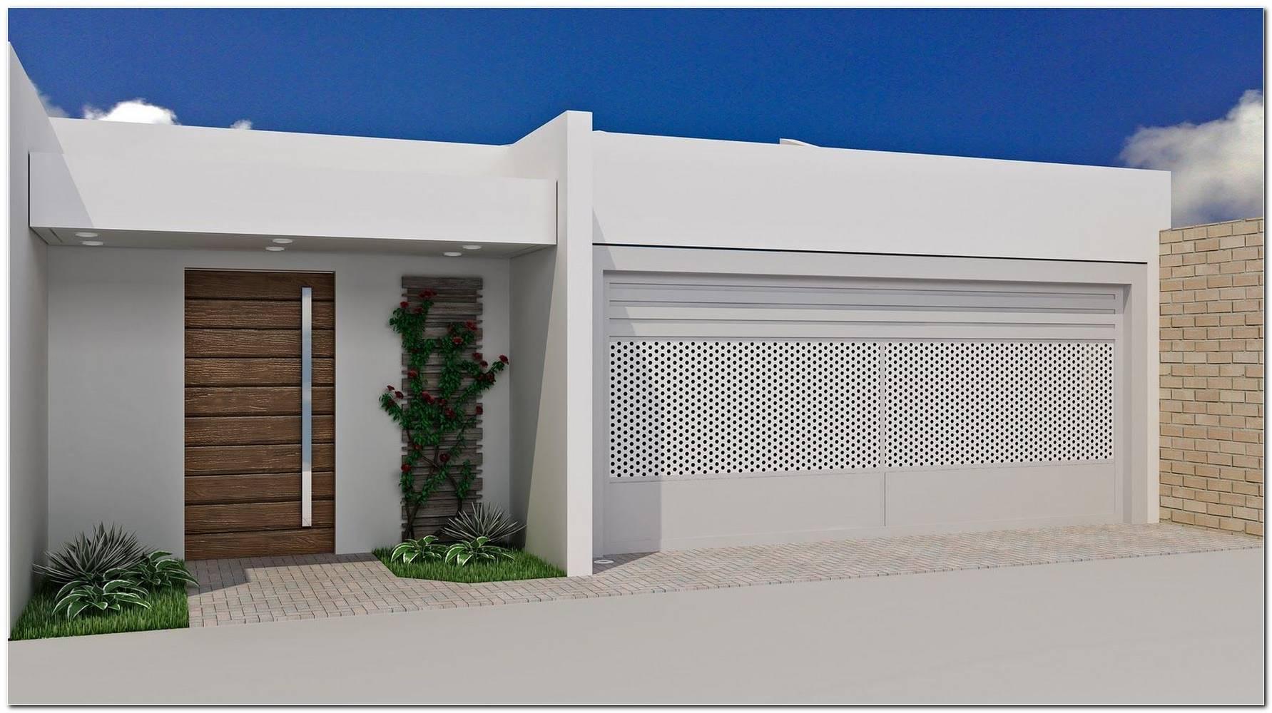 Fachada De Casas Com Muros E Portões