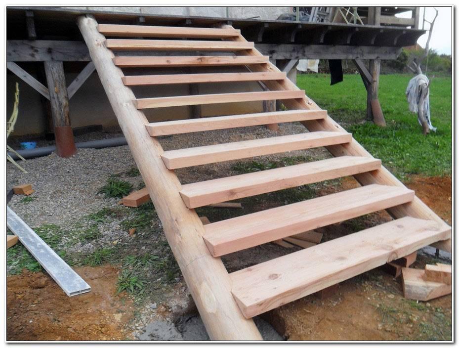 Faire Un Escalier Exterieur En Bois