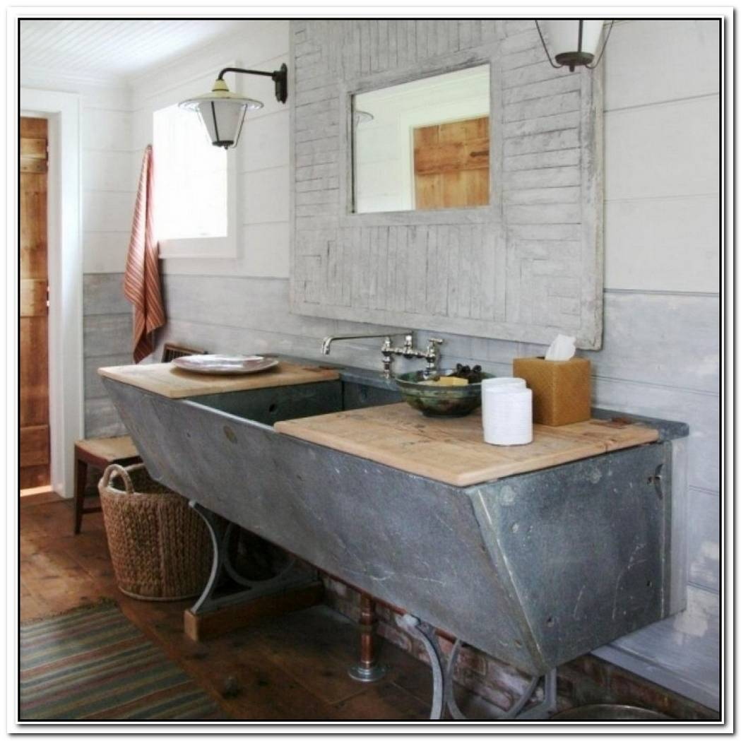 Farmhouse Contemporary Bathroom Mountain Style