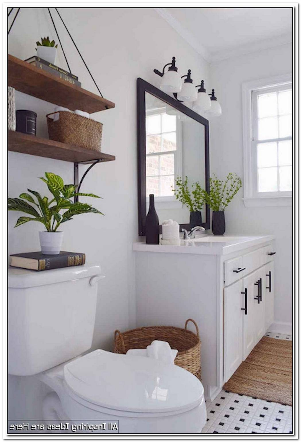 Farmhouse Minimalist Bathroom Decor