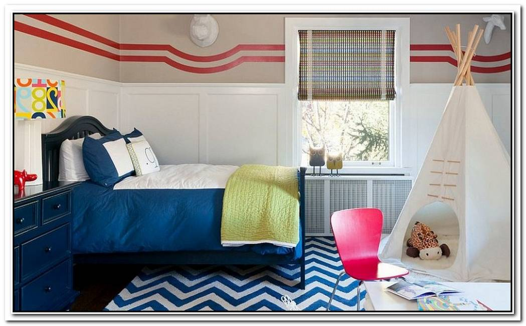 Fashionably Fun25 Kids' Bedrooms Showcasing Stylish Chevron Patterns