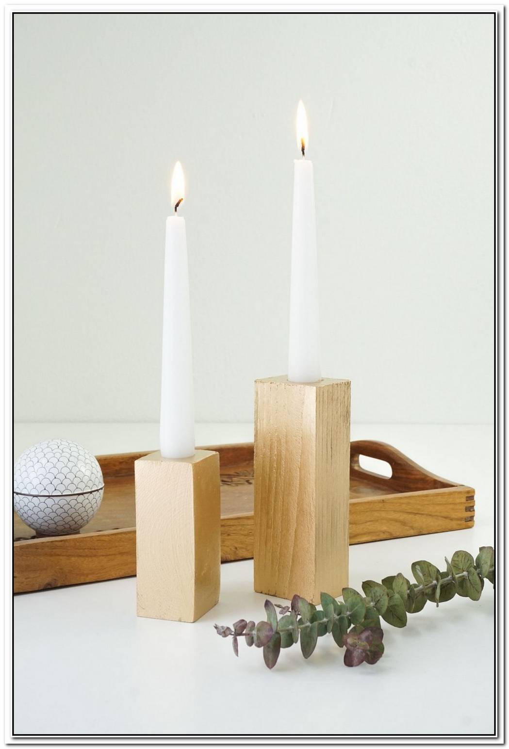 Faux Bois Candle Sticks