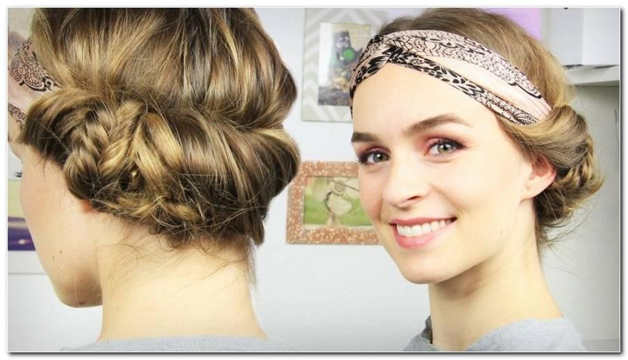 Festival Frisuren Mit Blumen Haarband