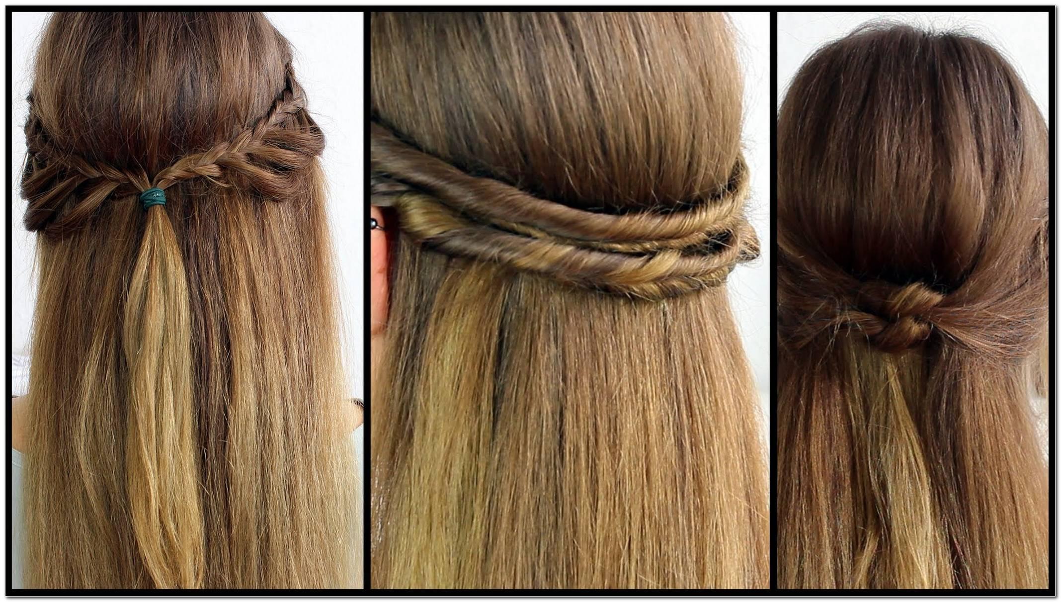 Festliche Frisuren Halboffen Glatte Haare
