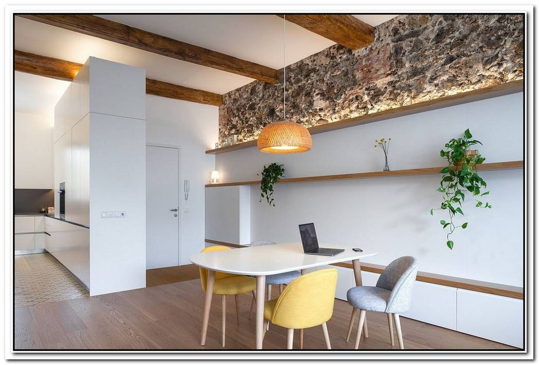 Finding Space And Visual FreshnessRemodeled Flat In Olot