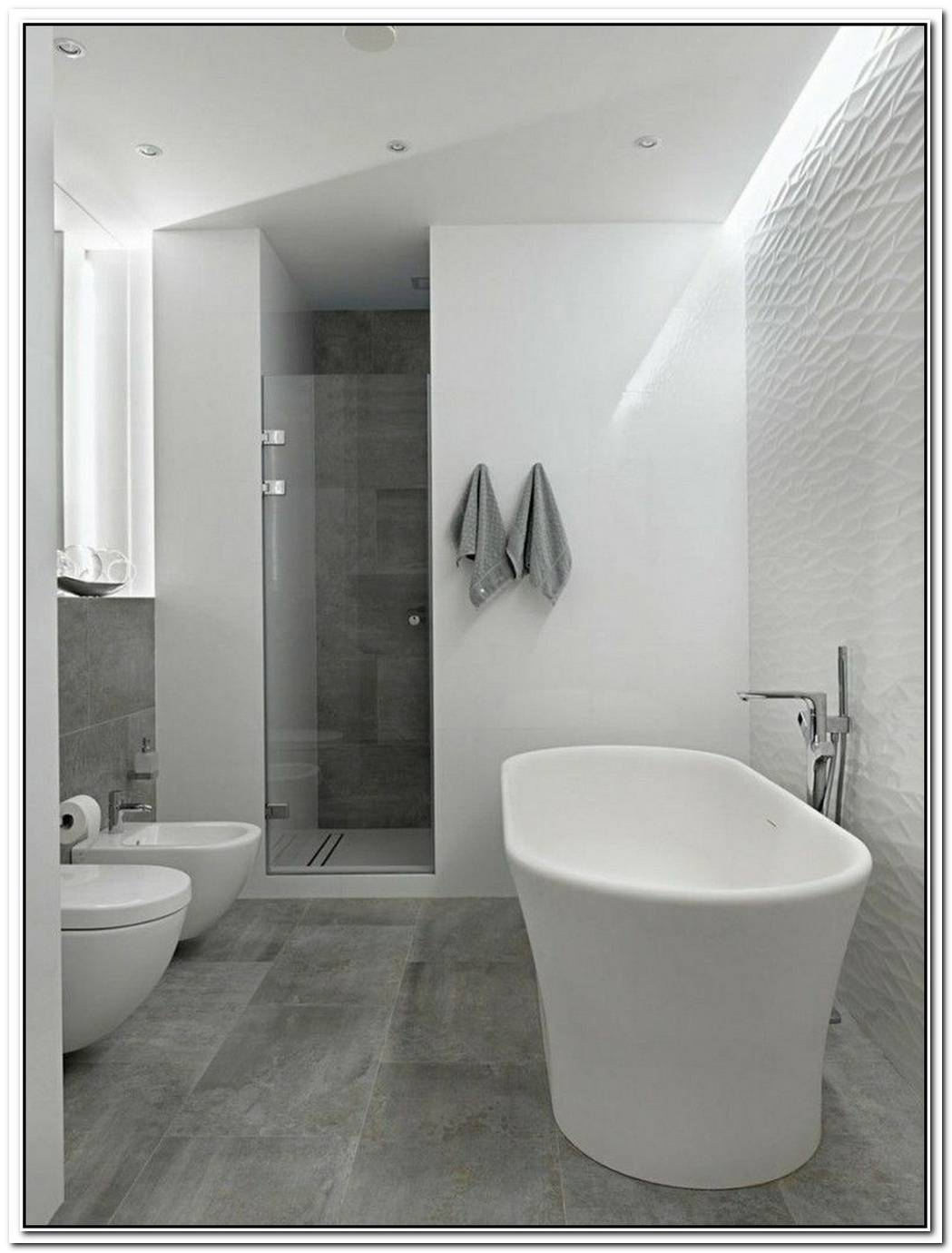 Floor Tile Bathroom Modern Concrete