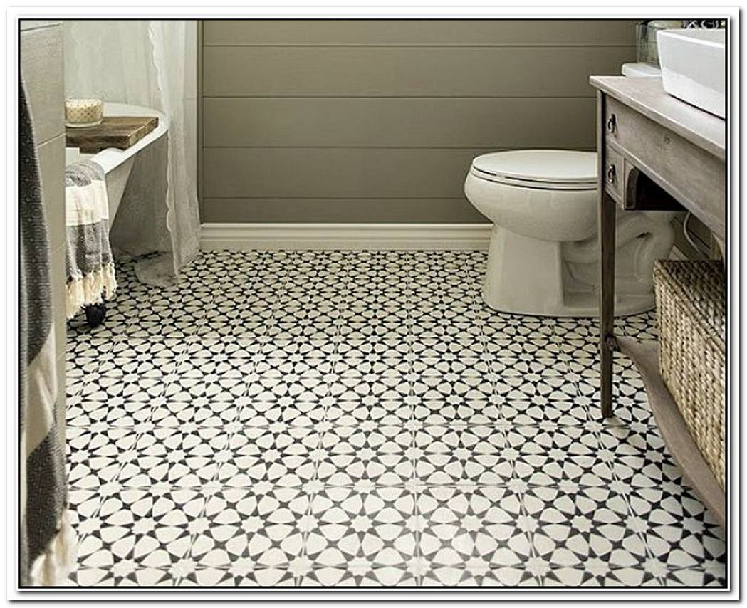 Floor Tile Vintage Bathroom