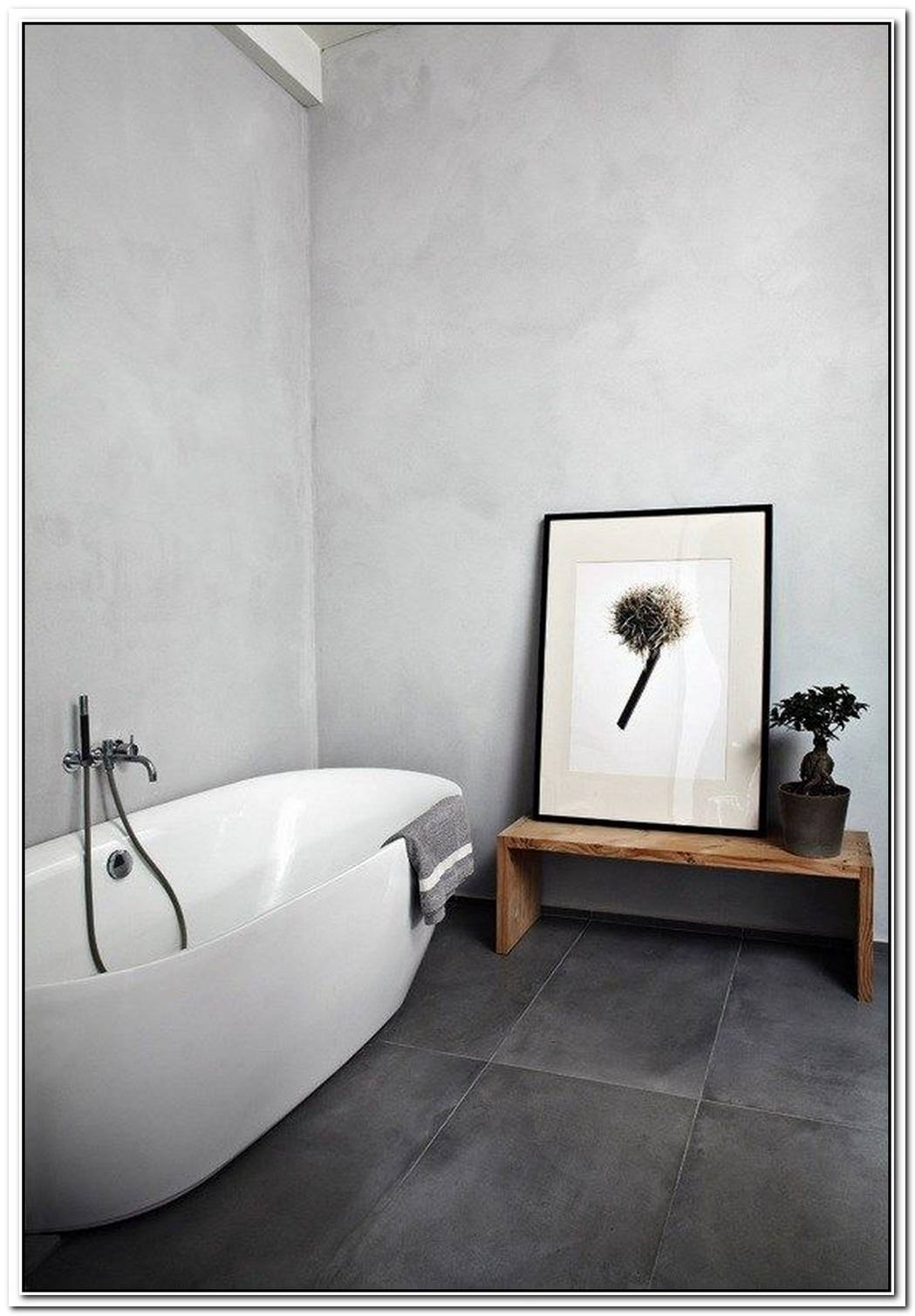 Floorboard Tile Minimalist Bathroom Moden