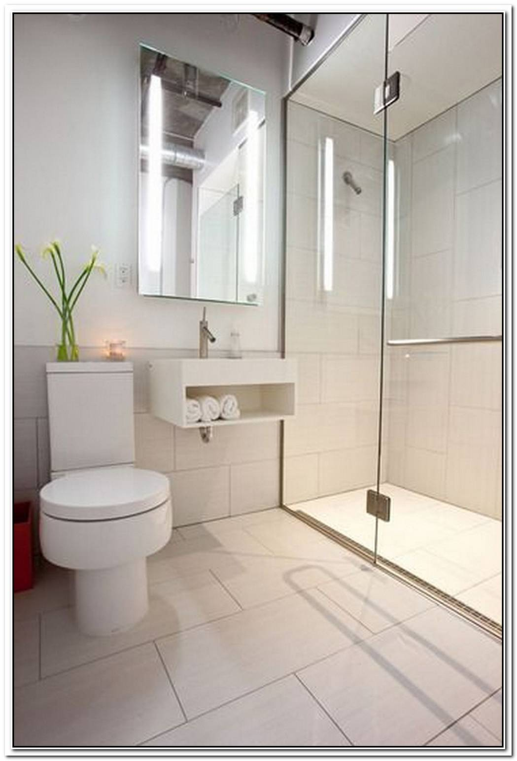 Flooring Contemporary Bathroom Small