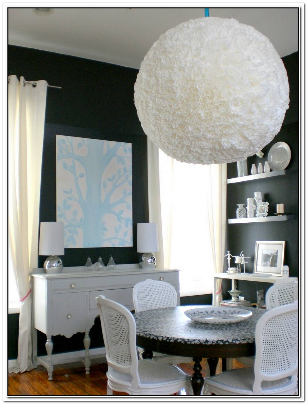 Fluffy Diy Coffee Filter Lamp Shade