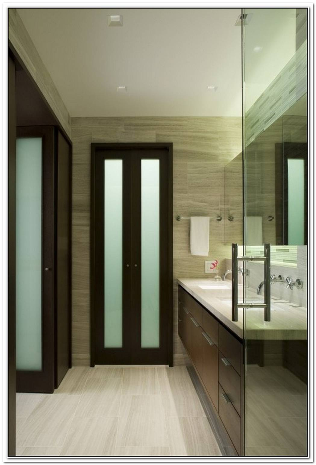 Folding Bathroom Modern Door