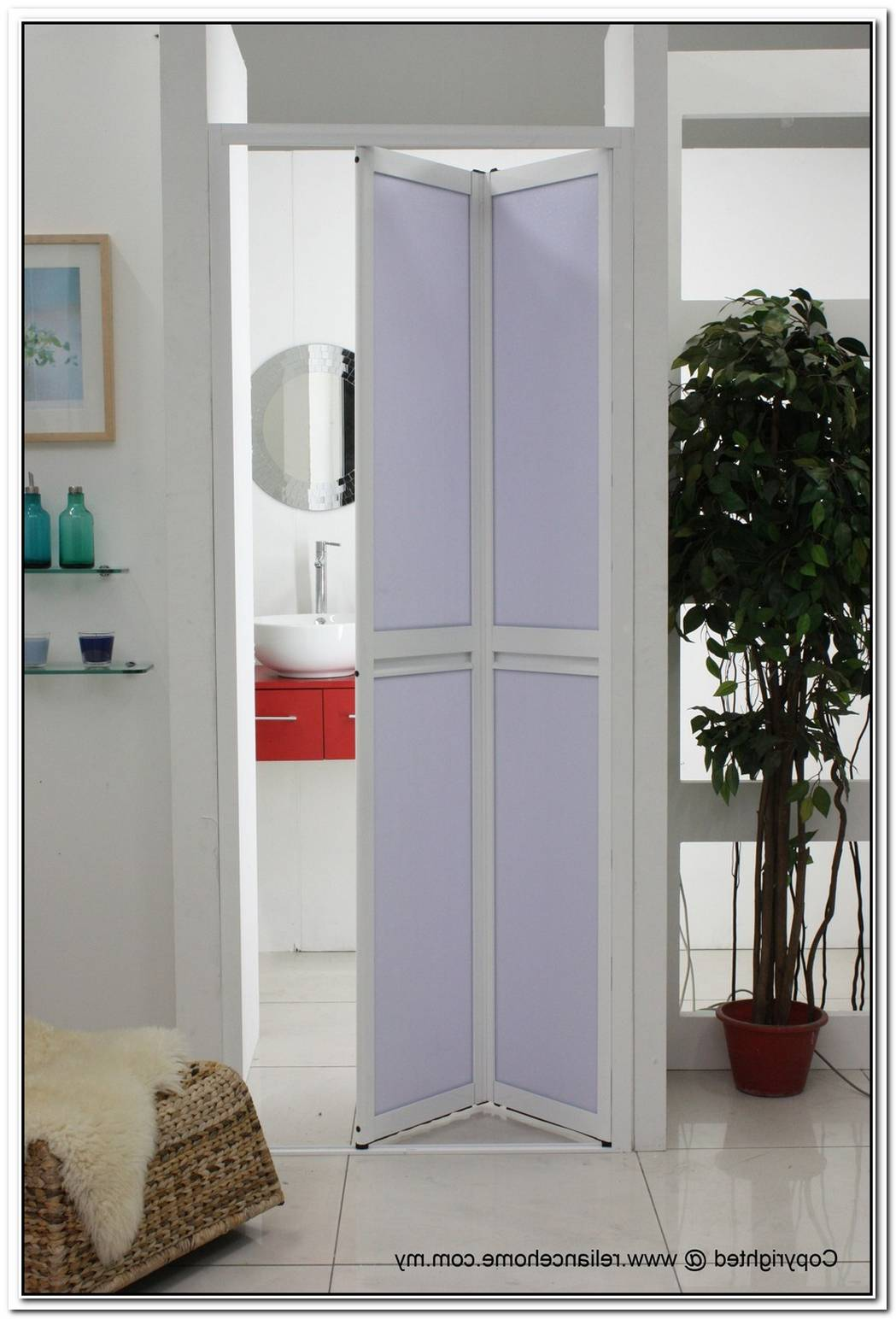 Folding Pocket Door Bathroom