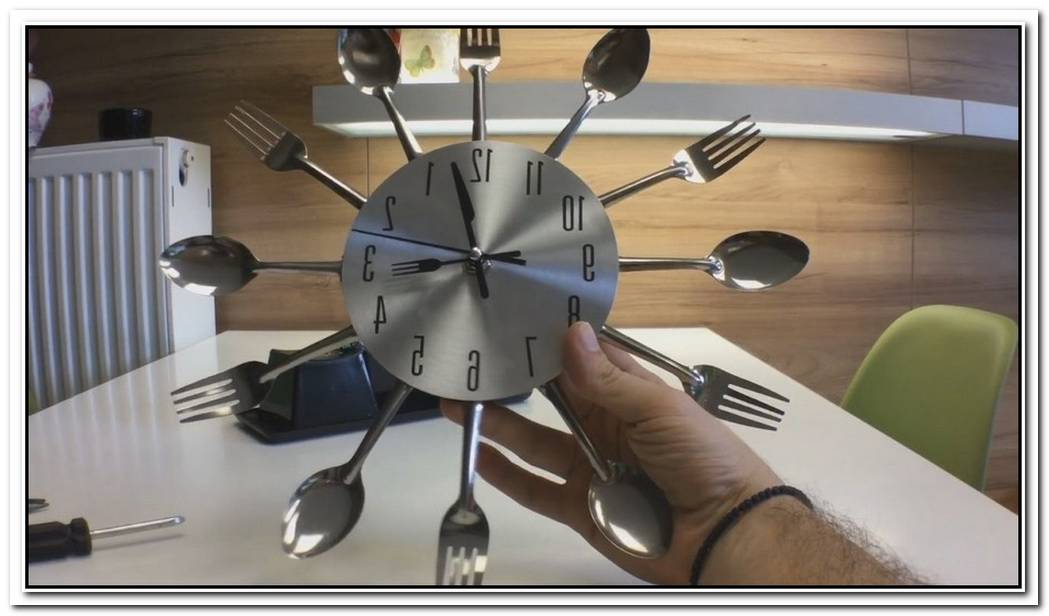 Fork And Spoon Wall Clock