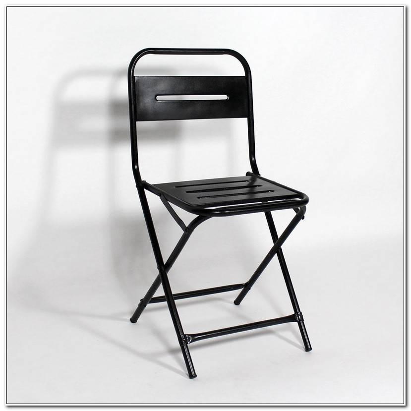 Frais Chaise Pliante Noire