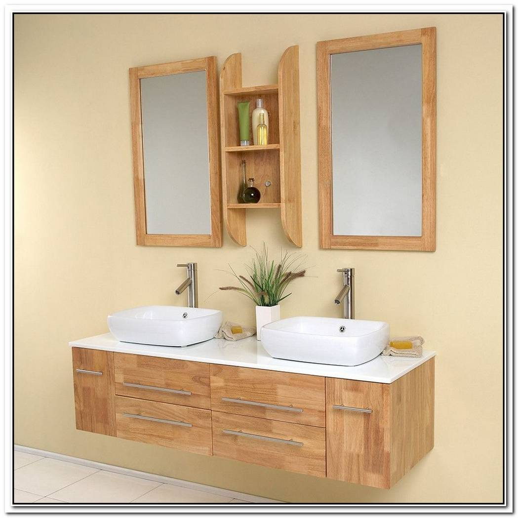 Fresca Bellezza Natural Wood Vessel Sinks Vanity