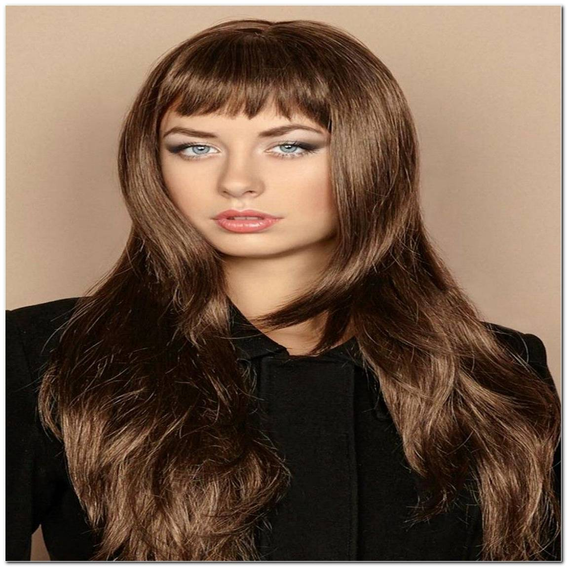Frisur Pony Lange Haare
