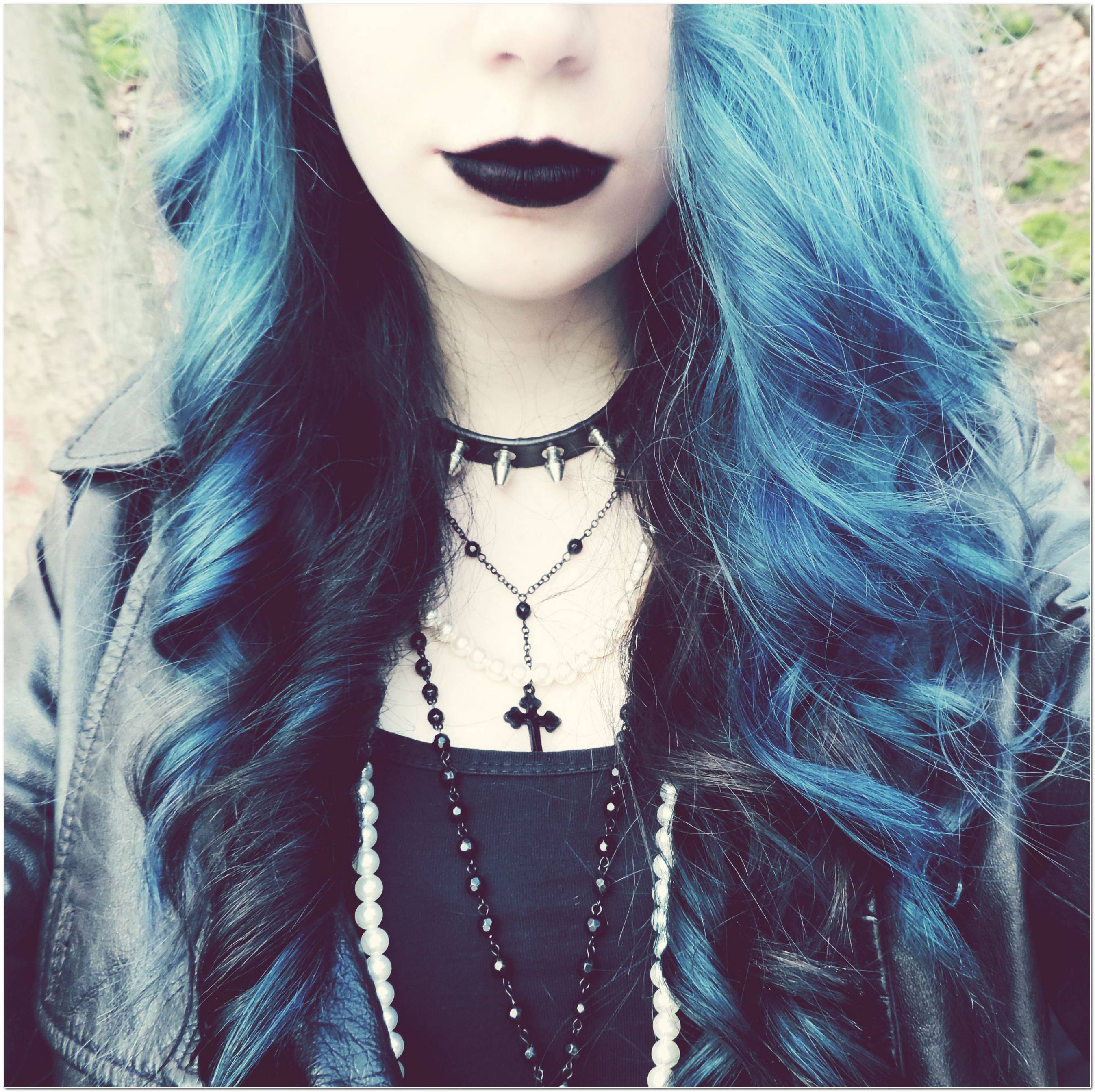 Frisur Schwarz Blau