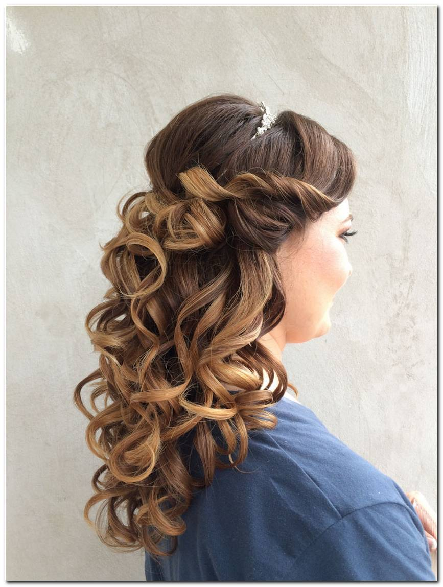 Frisuren Halboffen Locken